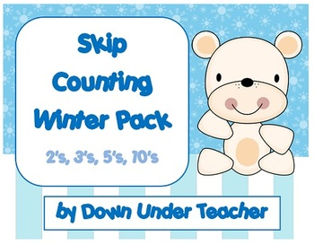Winter Skip Counting 2's, 3's, 5's, 10's and 10's from single digits