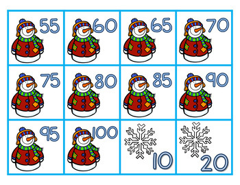Winter Skip Counting 2's, 5's, & 10's