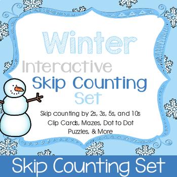 Winter Skip Counting Interactive Set