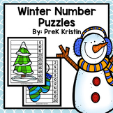 Winter Skip Counting Number Puzzles