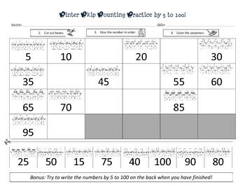 Winter Skip Counting Practice