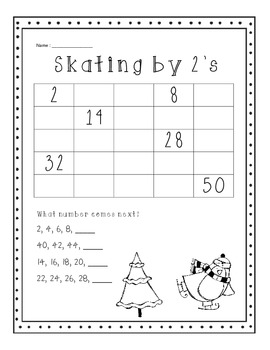 Winter Skip counting by 2's