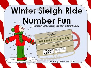 Winter Sleigh Ride Number Fun~Representing numbers to 20