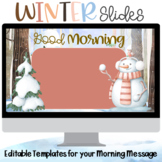 Winter Slides Morning Meeting Wait Google Slides with Timers