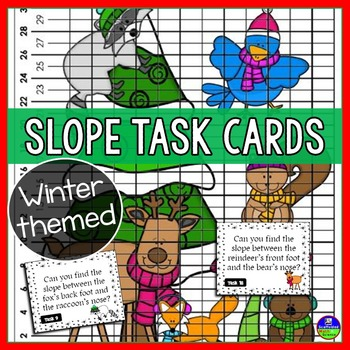 Slope Task Cards with a Winter Theme