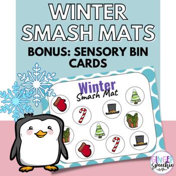 Winter Smash Mats | Bonus Sensory Bin Cards