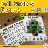 Winter Snap Cubes Ten Frame Matching Activity