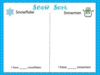 Winter Snow Activities for Preschool