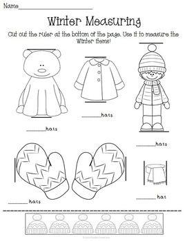 Winter Snow Activity Set K-1 Math Literacy Games Puzzles Writing