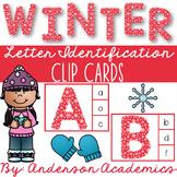 Winter Snow Alphabet Match Clip Cards