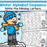 Winter Snow Alphabet Sequence – Write the Missing Letters Upper and Lower Case