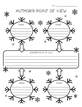 Winter Snow Author's Point of View Graphic Organizer