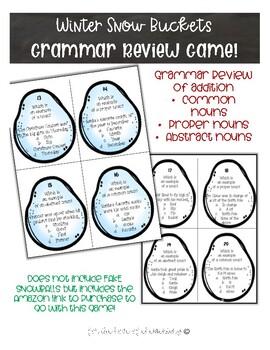 Winter Snow Buckets Game ELA Grammar Review