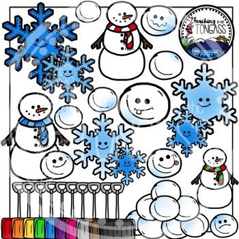 Winter Snow Clipart Bundle