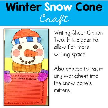Winter Snow Cone Craft