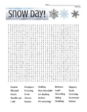Winter Snow Day DIFFICULT Word Search with coloring page   (use in SUB PLAN?)