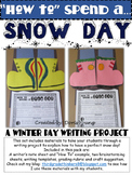 Winter Snow Day How To Writing Project