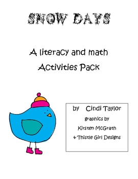 Winter Snow Days Literacy and Math Activity Pack