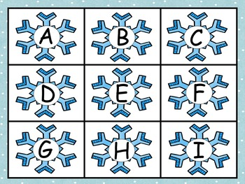 Winter Snow Days Literacy and Math Pack - ABC, Beg Sounds, Counting, Patterns