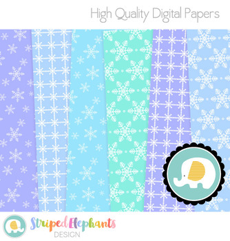 Winter Snow Digital Papers