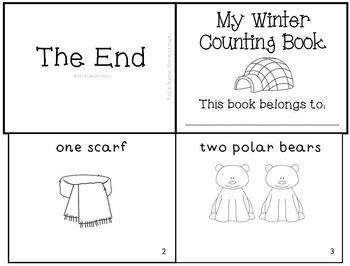 Winter Snow Emergent Reader Mini-Book Set of 4! K-