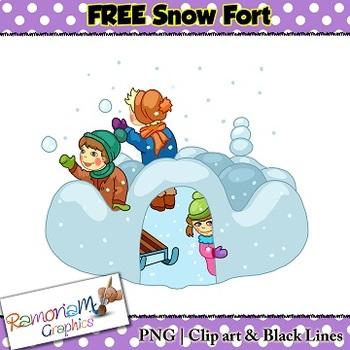 Winter Snow Fun Clip art FREE