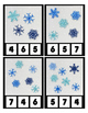 Winter Snow Glitter Counting Clip Cards Math Center ~ Pres