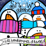 Winter Snow Globe 3-D Craft in French