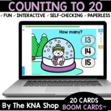 Winter Snow Globe Counting to 20 Boom Cards Distance Learning