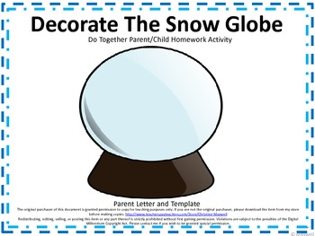 Winter Snow Globe Do Together Parent/Child Homework Activity