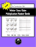 Winter Snow Globe  Multiplication Number Bonds FREEBIE (3.4E, 3.5D, 3.OA.1,4)