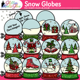 Winter Snow Globe Clip Art {Great for Christmas Activities & Scrapbooking}