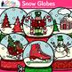 Winter Snow Globe Clip Art {Great for Christmas Activities & Scrapbooking}