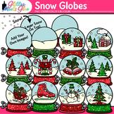 Winter Snow Globe Clip Art: Winter Graphics {Glitter Meets Glue}