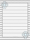 Winter Snow Lined Writing Paper FREE
