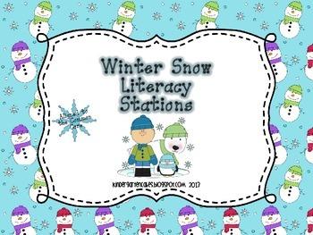 Winter Snow Literacy Stations
