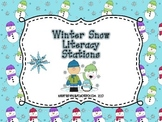 Winter Snow Literacy Stations