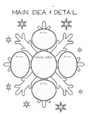 Winter Snow Main Idea & Detail Graphic Organizer