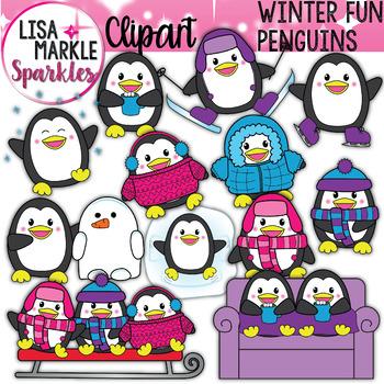 Winter Snow Penguin Clipart
