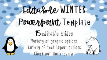 Winter Snow PowerPoint Template