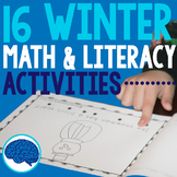 Winter Snow Preschool/Kindergarten Math & Literacy Activities