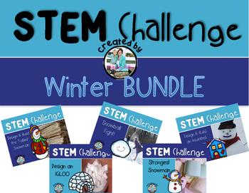 Winter Snow STEM Engineering Challenge Bundle