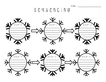 Holiday Winter Snow Sequencing Graphic Organizer