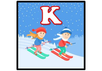 Winter, Snow, Skiing Bulletin Board Letters, Alphabet Banner Posters Printables