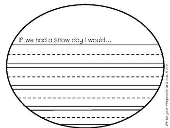 Winter Snow Writing Craftivity