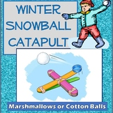 Winter Snowball Catapult Engineering Science Experiment Challenge STEM