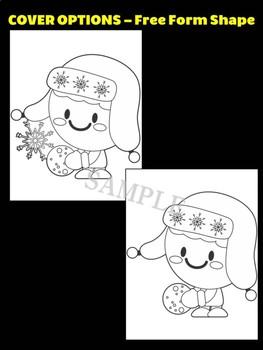 Winter Snowball Fight Kid B - Moonju Makers for Activity, Craft, Writing, Decor