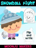 Winter Snowball Fight Kid D - Moonju Makers for Activity, Craft, Writing, Decor