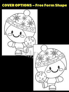 Winter Snowball Fight Kid - Moonju Makers for Activities, Crafts, Writing, Decor