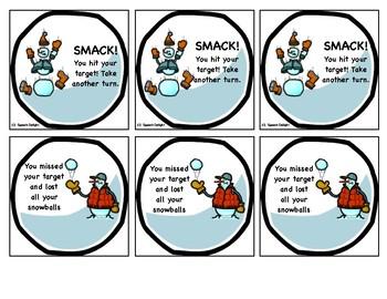 Winter Snowball Fun /r/ articulation